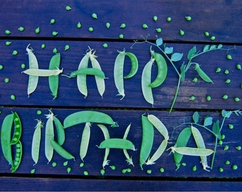 Hap-pea Birthday greeting card