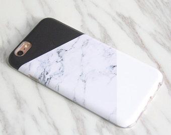 Marble Print iPhone 8 Plus case iPhone X case Galaxy S9 Plus case Galaxy S8 Plus case protective tough & snap case M-002