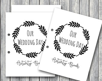 wedding kids activity book and coloring wedding kids table activities wedding color book children - Printable Kids Activities