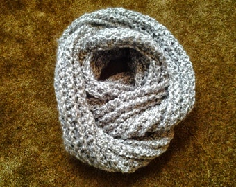 Ribbed Cowl /  Ribbed Infinity Scarf