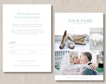 Photographer Gift Certificate Template - Photographer Gift Card Design - Voucher Flyer Template