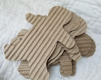 Gingerbread Men from Repurposed Corrugated Cardboard - 6