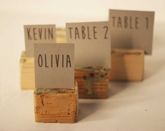 100 pieces Rustic place card holders, Wedding card holders, name card holders, Rustic wedding table number holder, wooden card holders
