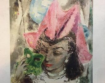 Vintage Mardi Gras Print by Wallace Bassford