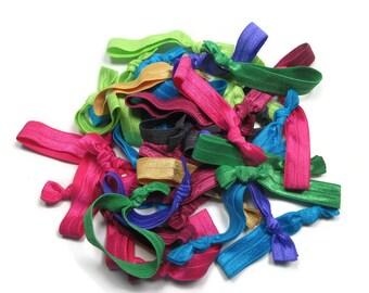 Hair Tie Solids Grab Bag, Solid Elastic Hair Tie, Ponytail Holders, Women Hair Ties, Yoga Hair Ties, Girls Hair Ties, Hair Holder