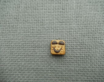 chocolate biscuit charm fun polymer clay