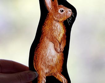 Rabbit stained glass fragment, kilnfired, stained glass rabbit motif, rabbit, medieval glass, rabbit suncatcher, rabbit glass fragment, gift