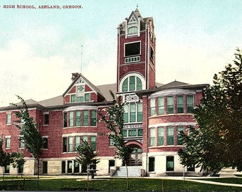 Ashland, Oregon, High School - Postcard - Vintage Postcard - Unused (BB)