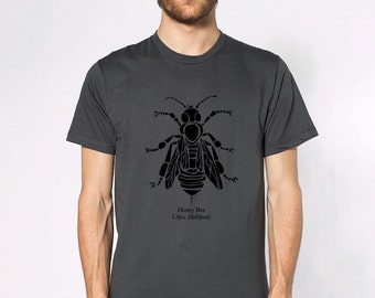 KillerBeeMoto: Honey Bee (Apis Mellifera) Short & Long Sleeve Shirts