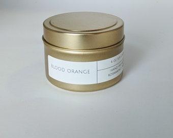 Blood Orange 4 oz Gold Tin Candle