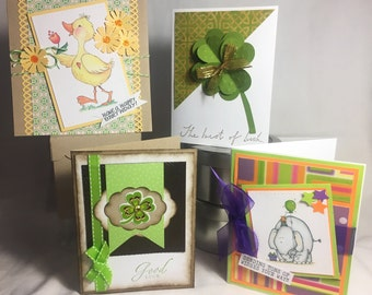 St Patty's and Birthdays Card Making Kit - Makes 4 Cards