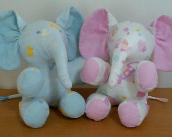 Pattern - Vinnie and Violet the Elephants - PDF Sewing Pattern