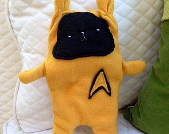 Captain Kirk ~ The Star Trek Bunny Bummlie ~ Stuffing Free Dog Toy ~ Ready To Ship Today
