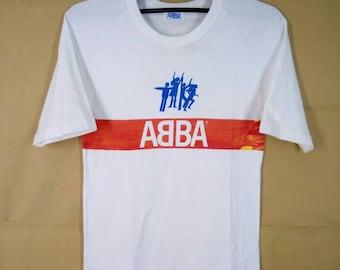 Vintage 70s ABBA Band Disco/ Pop Rock/Pop/Europop Tshirt