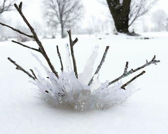 Winter Wedding, Photography Prop, Icicle Crown, Winter Witch, Ice Queen, Snow Queen Crown, Alternative Bride