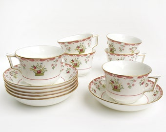 From 1973-1997, Wedgwood Bianca Cup and Saucer, R4499, Williamsburg Mark, Wedgwood Bone China Tea Cup and Saucer, Sold Individually