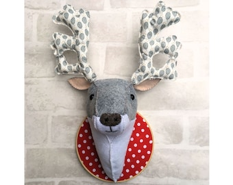 Fabric Deer Head pdf Sewing pattern instant download