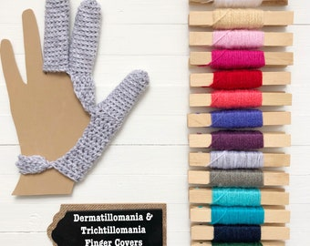 Dermatillomania - 3 Finger Skin Picking Guard - Excoriation Disorder - Long Term Bandage - Custom