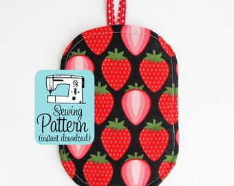 Just a Pinch Potholder PDF Sewing Pattern   Quick and easy beginner sewing project tutorial to make kitchen potholders.