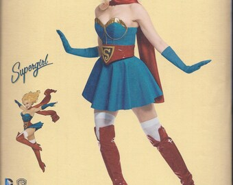 Simplicity 8185 Misses Supergirl Cosplay Costume UNCUT Sewing Pattern