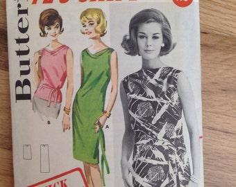 Vintage Butterick 2627 Mod Shift Dress • size 14