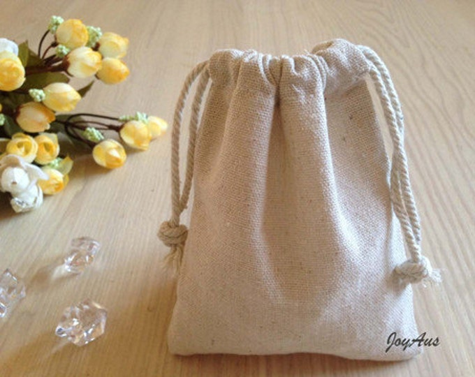 Featured listing image: 12x Natural Linen Pouch Favour Bags with Drawstring - Wedding Party Favour Bags - Baby Shower Chrismas Gift Bags-Anniversary Favour Gift Bag