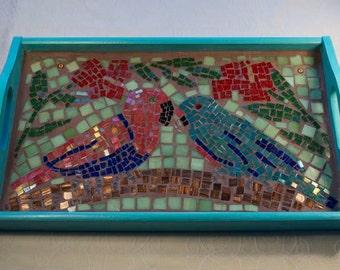 Parrots Mosaic Tray