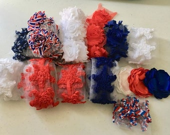 Red White and Blue Shabby Grab Bag
