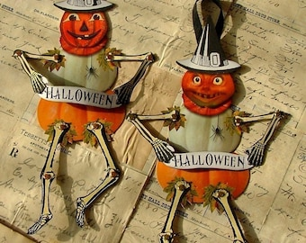 Pumpkin Jack paper dolls instant download