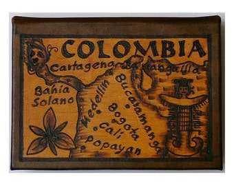 COLOMBIA - Leather Travel Journal / Sketchbook - Handcrafted