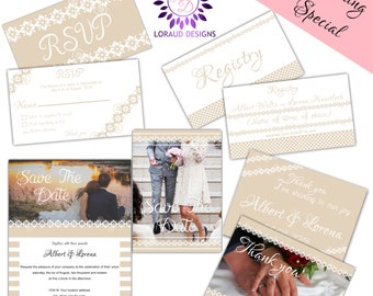 WEDDING SPECIAL Digital package! INSTANT download template
