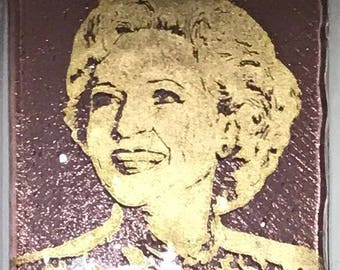 Betty White Fused Glass Coaster, Golden Girls Coasters, Famous People Coasters