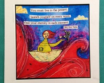 Ride Every Wave Original Art Note Card