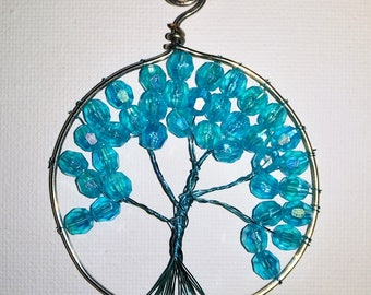 Blue Tree of Life Pendant