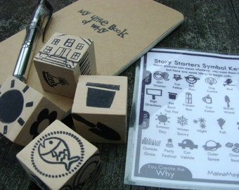 Story Starters - You Create the WHY Playset - A Montessori and Waldorf Inspired Learning Toy