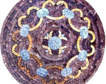 Purple Mosaic Tile Medallion - Alessa