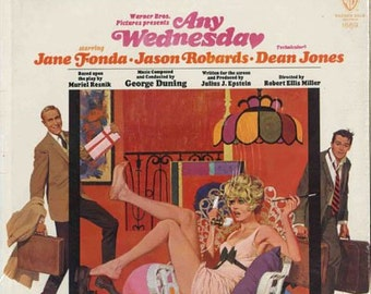 Any Wednesday, 1966 Soundtrack LP Vinyl Record, Jane Fonda, Jason Robards, Dean Jones