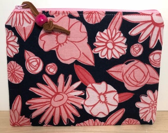 palm springs navy from hatbox collection print  zippered pouch