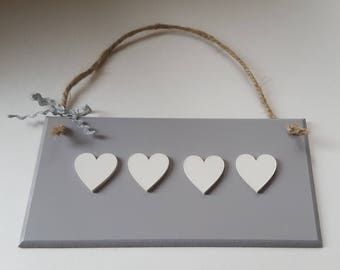 Grey Wall Plaque with Choice of Embellishments