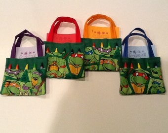 Teenage Mutant Ninja Turtles Children's Crayon Bag, Birthday Party Favor