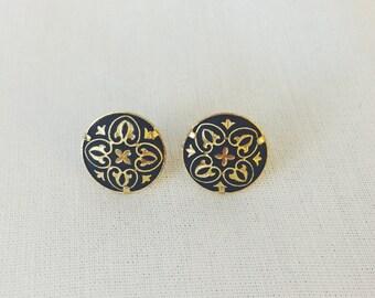 24k Gold Encrusted Earrings