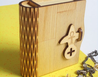 Book-type storage box(random selection free Charm one )