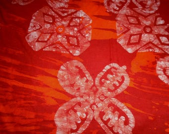 Hand Dyed Batik from Ghana Africa, by the half yard