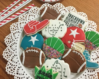 2 Dozen Football Cookies