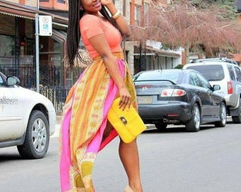 Dashiki high low skirt.