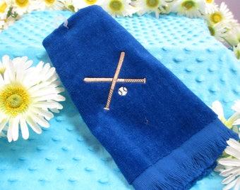 Fingertip Towel Personalized Baseball-FREE SHIPPING