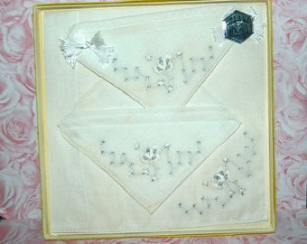 Embroidered Orlana Swiss Style Kerchiefs with Box