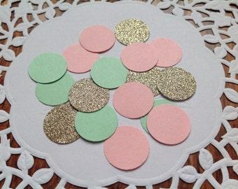 Circle confetti,party confetti,confetti,Wedding confetti,table confetti,table scatter, mint pink and gold confetti, party decor