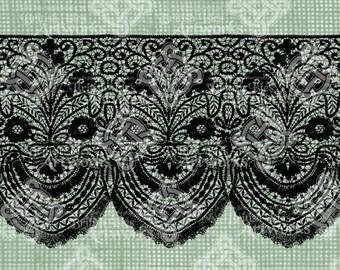 Digital Download, Filigree Lace Trim, Antique Illustration, Iron on Transfer, DigiStamp, Digi Stamp, Transparent png