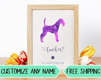 P12 Custom Dog Silhouette Personalized Pet Art
